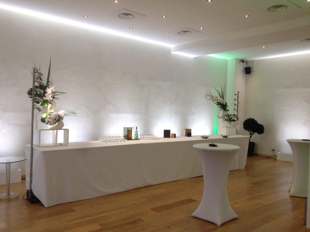 Table de cocktail au Pavillon Wagram